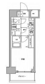 ジェノヴィア川崎駅グリーンヴェール3階Fの間取り画像