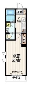 MAISON三房1階Fの間取り画像