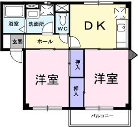 アルエットⅡ2階Fの間取り画像