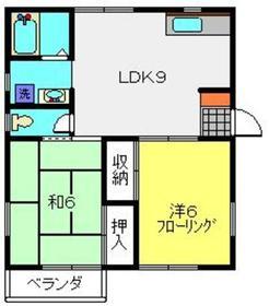 昭栄ホームズB棟2階Fの間取り画像