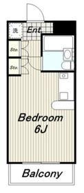 パルフェホワイト2階Fの間取り画像