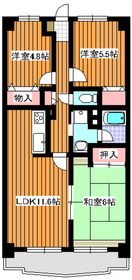 地下鉄成増駅 徒歩9分5階Fの間取り画像