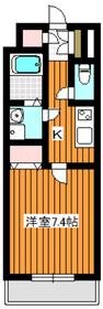 サングレース赤塚A4階Fの間取り画像