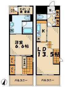 リココリーナ6階Fの間取り画像