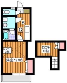 下赤塚駅 徒歩3分3階Fの間取り画像