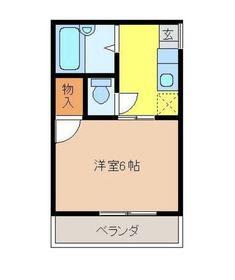 シェルコート壱番館2階Fの間取り画像