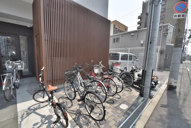U-ro北巽 あなたの大事な自転車も安心してとめることができますね。