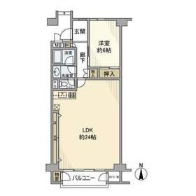 三ッ沢下町駅 徒歩25分6階Fの間取り画像