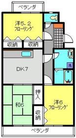 新川崎駅 徒歩12分3階Fの間取り画像