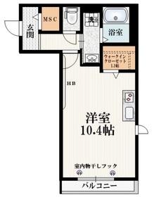 Maison Alba3階Fの間取り画像