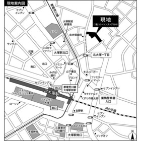 ソシエ北大塚案内図