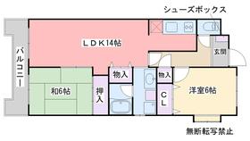 G−ONE姪浜駅南WEST3階Fの間取り画像
