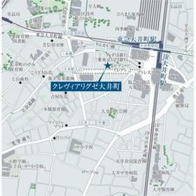 クレヴィアリグゼ大井町案内図
