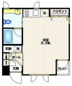 SASAZUKA-SUR-MER1階Fの間取り画像