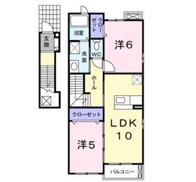 湘南サニーライフA2階Fの間取り画像