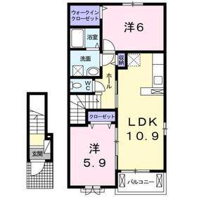 西八王子駅 バス13分「石神坂」徒歩5分2階Fの間取り画像