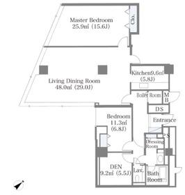 ニチレイ東銀座レジデンス21階Fの間取り画像