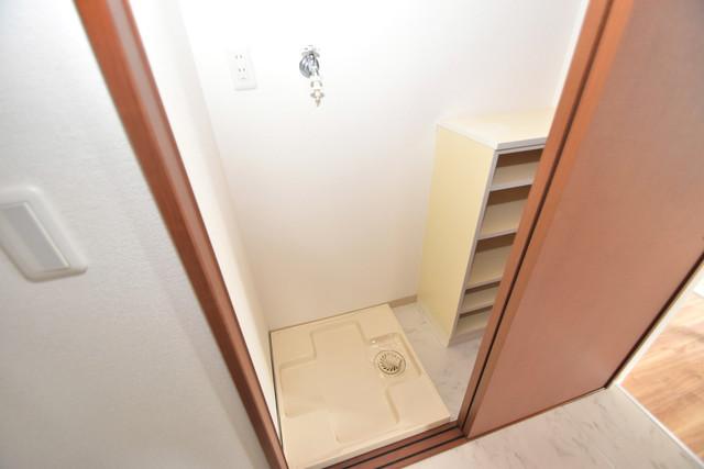 セレブコート近大前 洗濯機置場が室内にあると本当に助かりますよね。