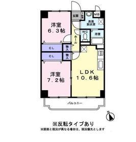 メゾン ボヌール2階Fの間取り画像