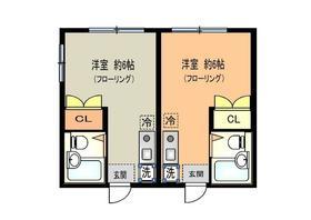 上野原駅 徒歩15分2階Fの間取り画像