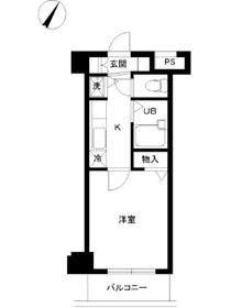 スカイコート神楽坂壱番館8階Fの間取り画像
