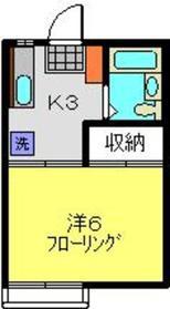 齊藤ハイツA2階Fの間取り画像