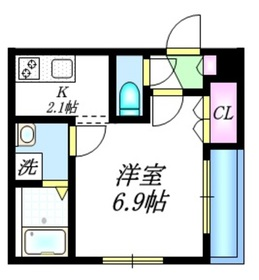 ラ・シエールM2階Fの間取り画像
