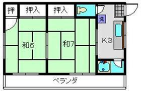 岩沢ビル3階Fの間取り画像