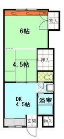 洋明ハイツ1階Fの間取り画像