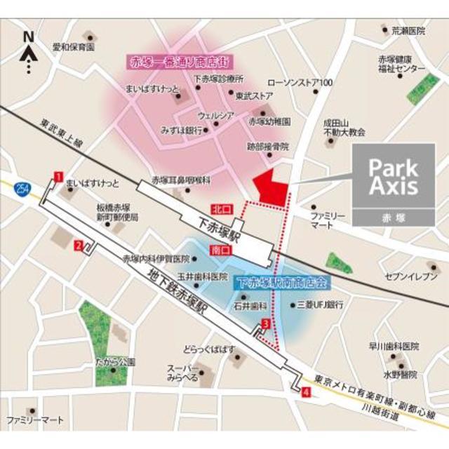 地下鉄赤塚駅 徒歩3分案内図
