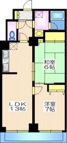 尾山台駅 徒歩9分2階Fの間取り画像