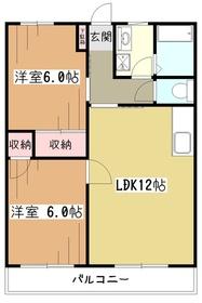 オークスパピリオン3階Fの間取り画像