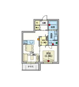 (シニア限定)ヘーベルVillage高島平1階Fの間取り画像