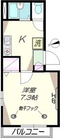 グレイス南蒲田2階Fの間取り画像