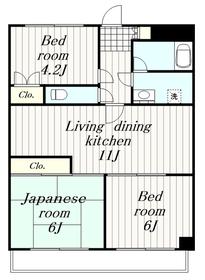 ルビコンすみよし台4階Fの間取り画像