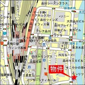 品川駅 徒歩8分案内図