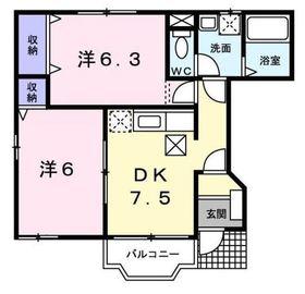 フロレスタB1階Fの間取り画像