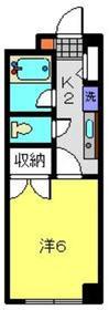 キャッスル・パティ1階Fの間取り画像
