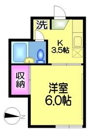 黒田メゾン1階Fの間取り画像