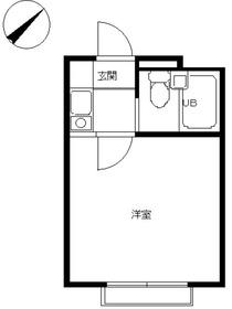 スカイピア葛西第22階Fの間取り画像