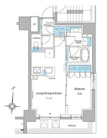 ルフォンプログレ菊川8階Fの間取り画像