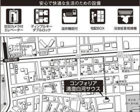 清澄白河駅 徒歩7分案内図