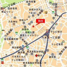 ミッドガーデン赤坂氷川案内図