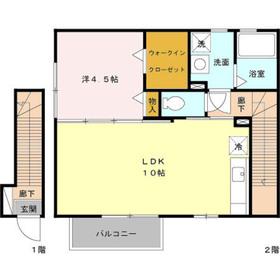トレゾール2階Fの間取り画像