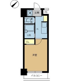 スカイコート浜松町4階Fの間取り画像