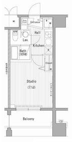 ガーラ・プレシャス横濱関内6階Fの間取り画像