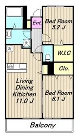 ベル ソラーナ3階Fの間取り画像