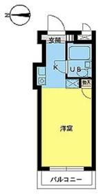 スカイコート品川第24階Fの間取り画像