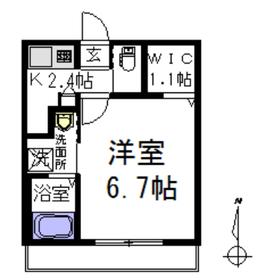 メゾンポム2階Fの間取り画像