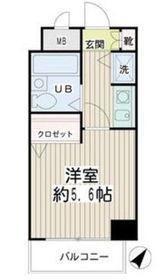 ネオマイム新子安弐番館8階Fの間取り画像